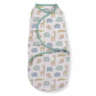Lot de 3 gigoteuses bébé Swaddle me Safari 0-3 mois Summer Infant