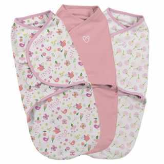Lot de 3 gigoteuses bébé Swaddle me Secret Garden 0-3 mois