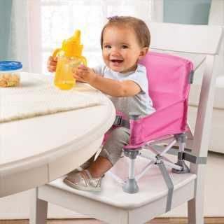 Siège rehausseur portatif Pop n Sit Rose Summer Infant