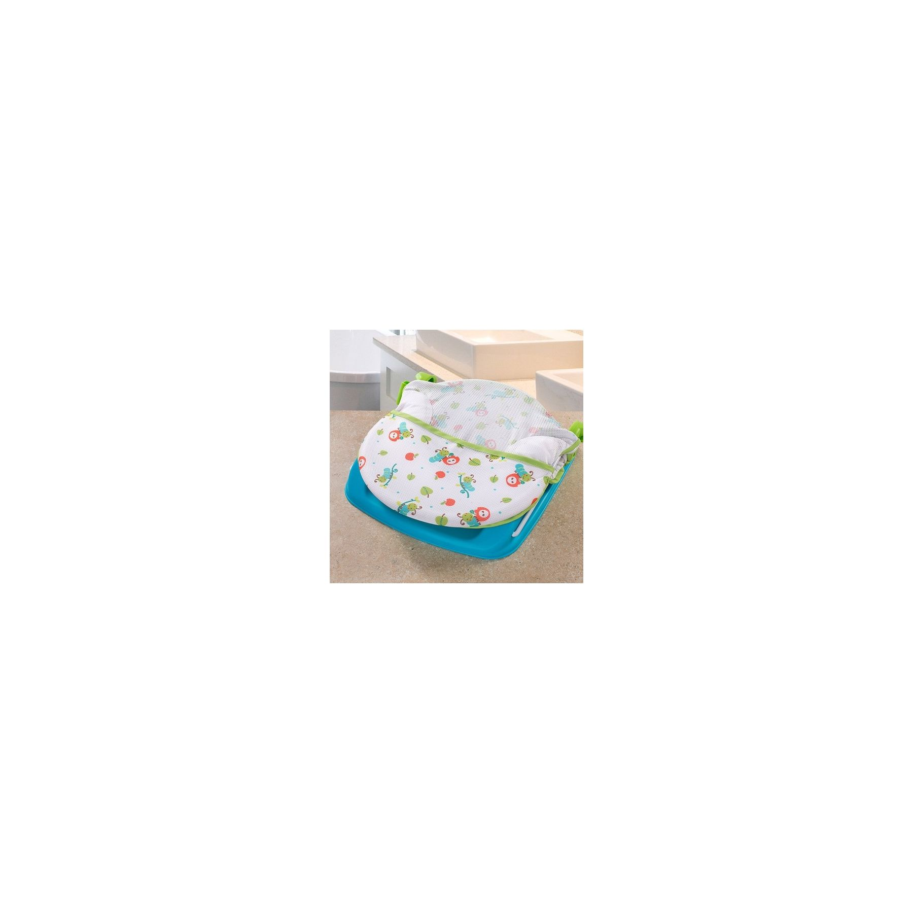 Transat de Bain Avec Barre de Jeux Vert et Bleu Summer Infant