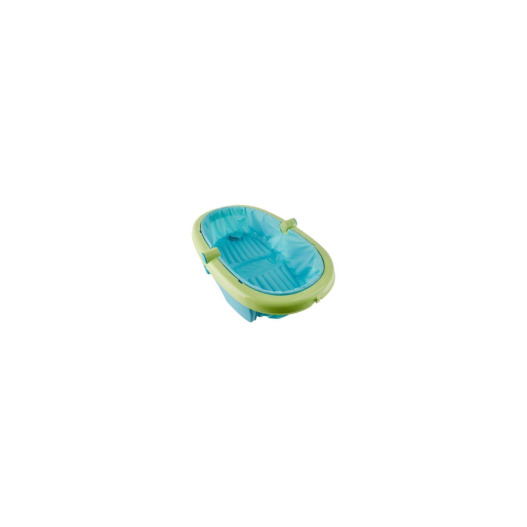Baignoire Bebe Pliable Et Portable Bleu Et Vert Summer Infant
