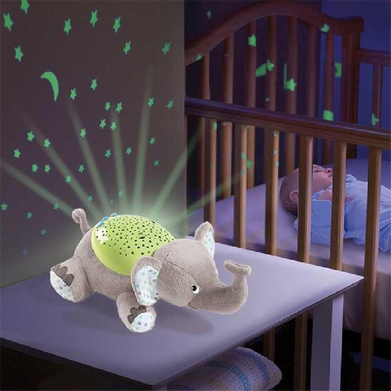 Veilleuse musicale Elephant Gris et vert Summer Infant