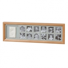 My 1st Year Cadre Empreinte 12 Photos en bois - Miel Baby Art