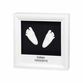 My Little Steps Cadre Empreintes 3D - Blanc Baby Art