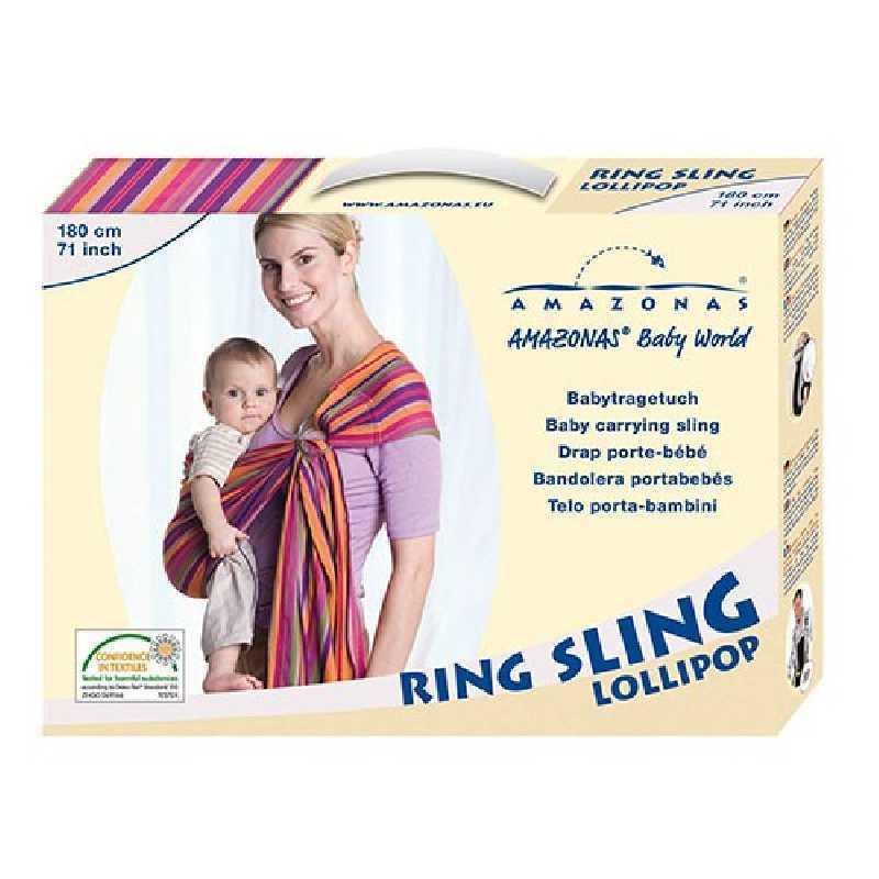 Echarpe de Portage bébé Ring Sling Lollipop 180 cm Amazonas