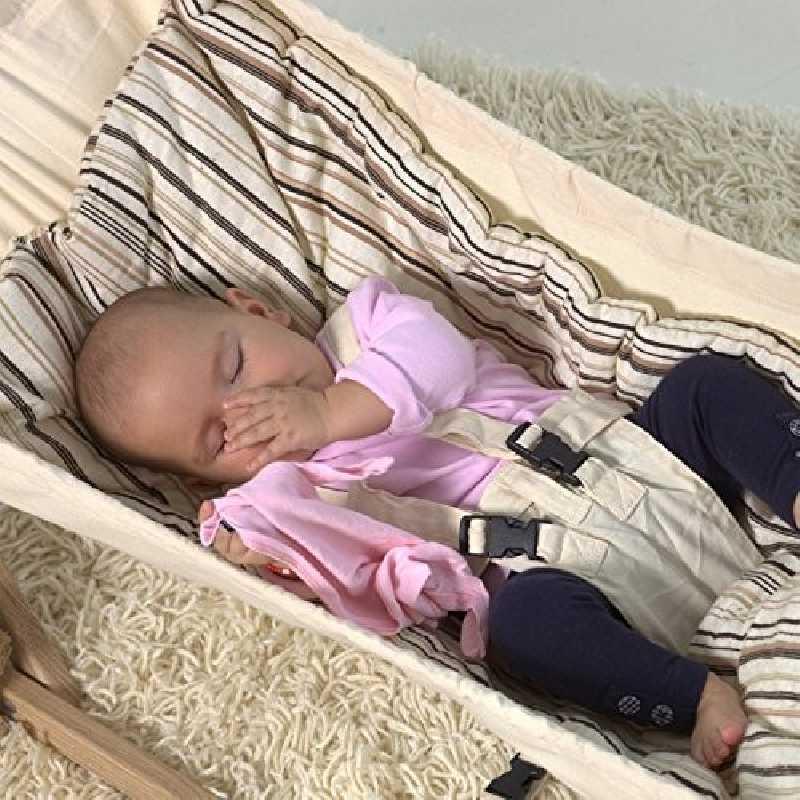 Couverture doublée pour hamacs bébé Sunny Cacao Amazonas