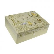 Boîte à souvenirs pour bébé avec compartiments Winnie l'Ourson Disney