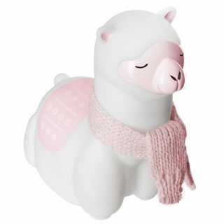 Veilleuse enfant Lama Rose et Blanc Atmosphera