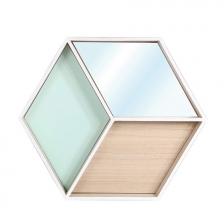 Etagère hexagonale avec Miroir The Home Deco Factory