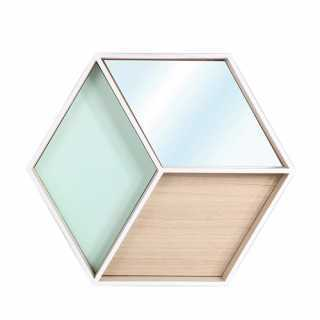 Etagère hexagonale avec Miroir The Home Deco Factory