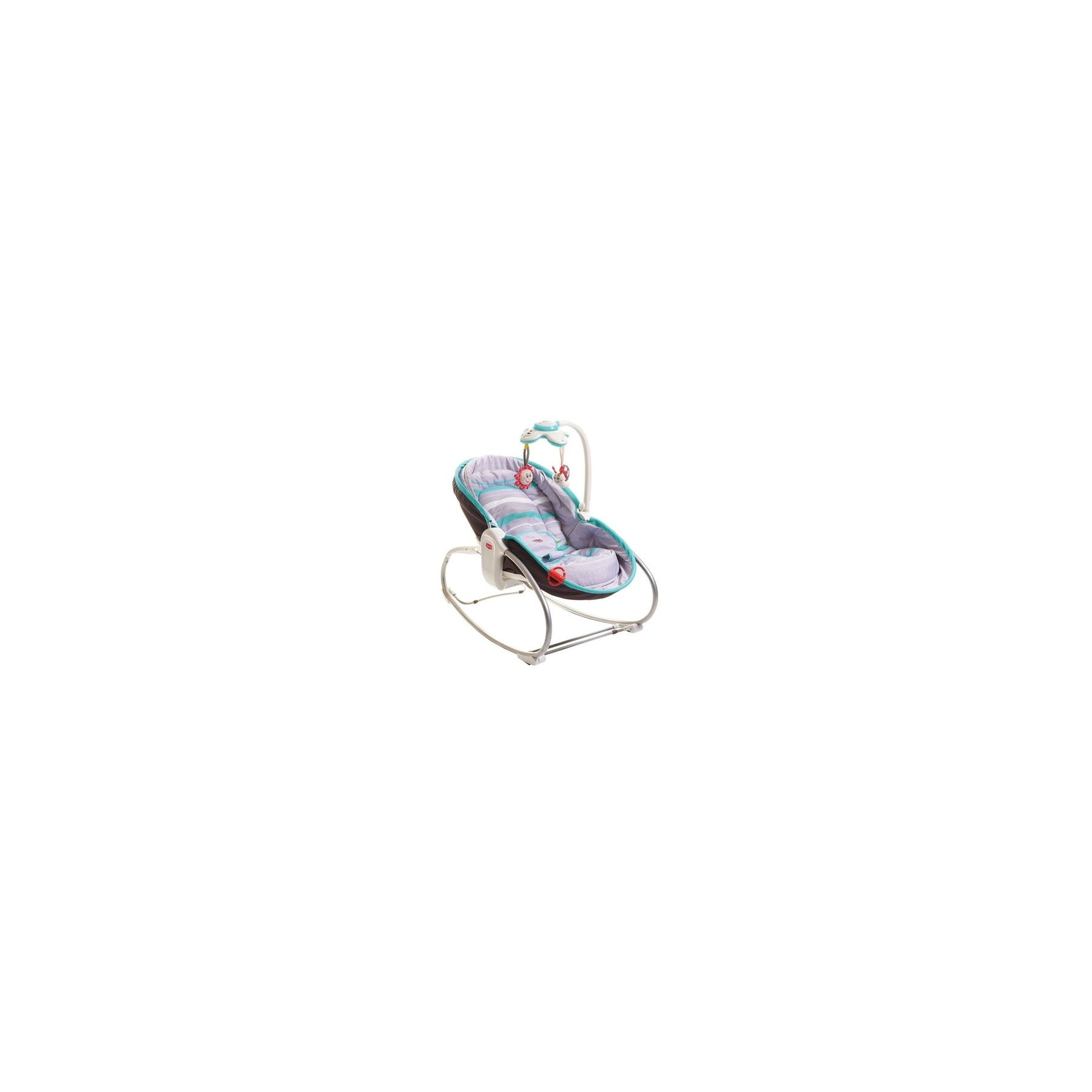 Transat bébé Rocker Napper 3 en 1 Gris Tourquoise Tiny Love