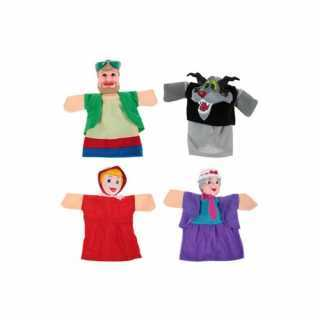Théâtre de marionnettes + 4 marionnettes à main Le petit chaperon rouge