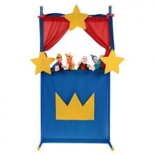 Théâtre de marionnettes + 4 marionnettes à main Pinocchio