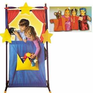 Théâtre de marionnettes + 4 marionnettes à main Cendrillon