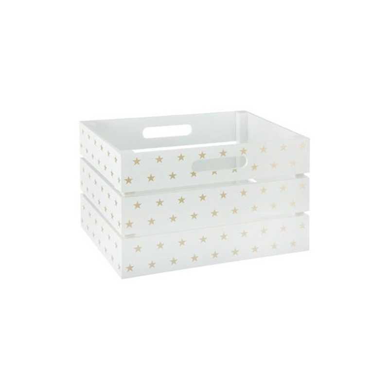 Cagette de rangement Blanc et Doré Atmosphera