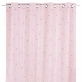 Rideau occultant enfant phosphorescent Rose 140 x 250