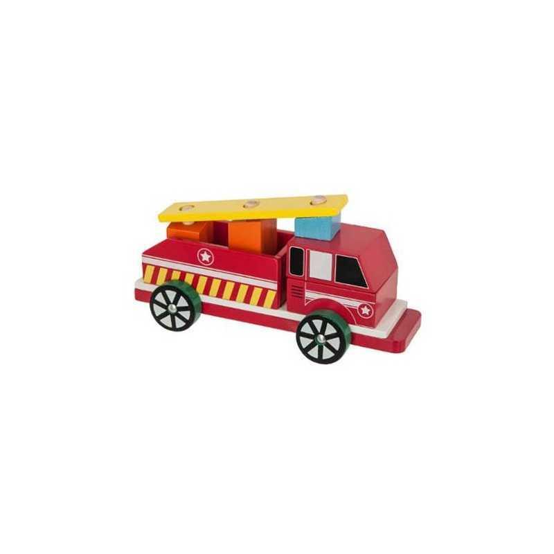Camion de pompier en bois BeToys