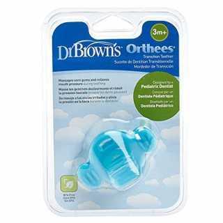 Sucette de dentition transitionnelle Bleu Dr Brown's