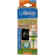 Biberon en verre 150 ml Options Dr Brown's