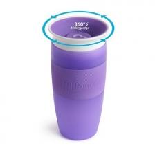 Tasse d'apprentissage 360° Miracle 414 ml Violet Munchkin