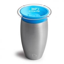 Tasse d'apprentissage 360° en acier Miracle 296 ml Bleu Munchkin