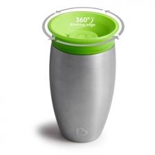 Tasse d'apprentissage 360° en acier Miracle 296 ml Vert Munchkin