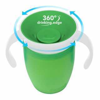 Tasse d'apprentissage 360° sans bec Miracle 207 ml Vert Munchkin