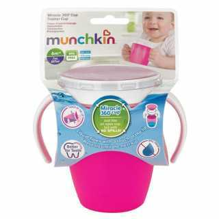 Tasse d'apprentissage 360° sans bec Miracle 207 ml Rose Munchkin