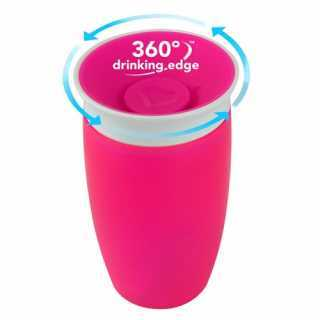 Tasse d'apprentissage 360° Miracle 296 ml Rose Munchkin