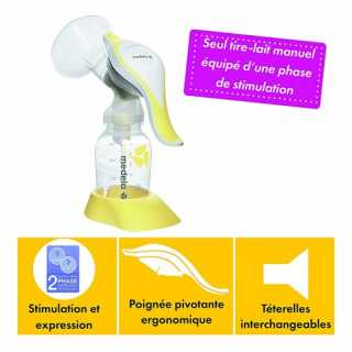 Tire-lait manuel Harmony Medela + Set Pump & Feed
